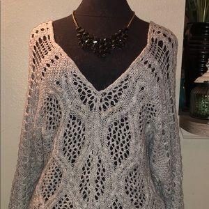 Mudd Gray Sweater Blouse